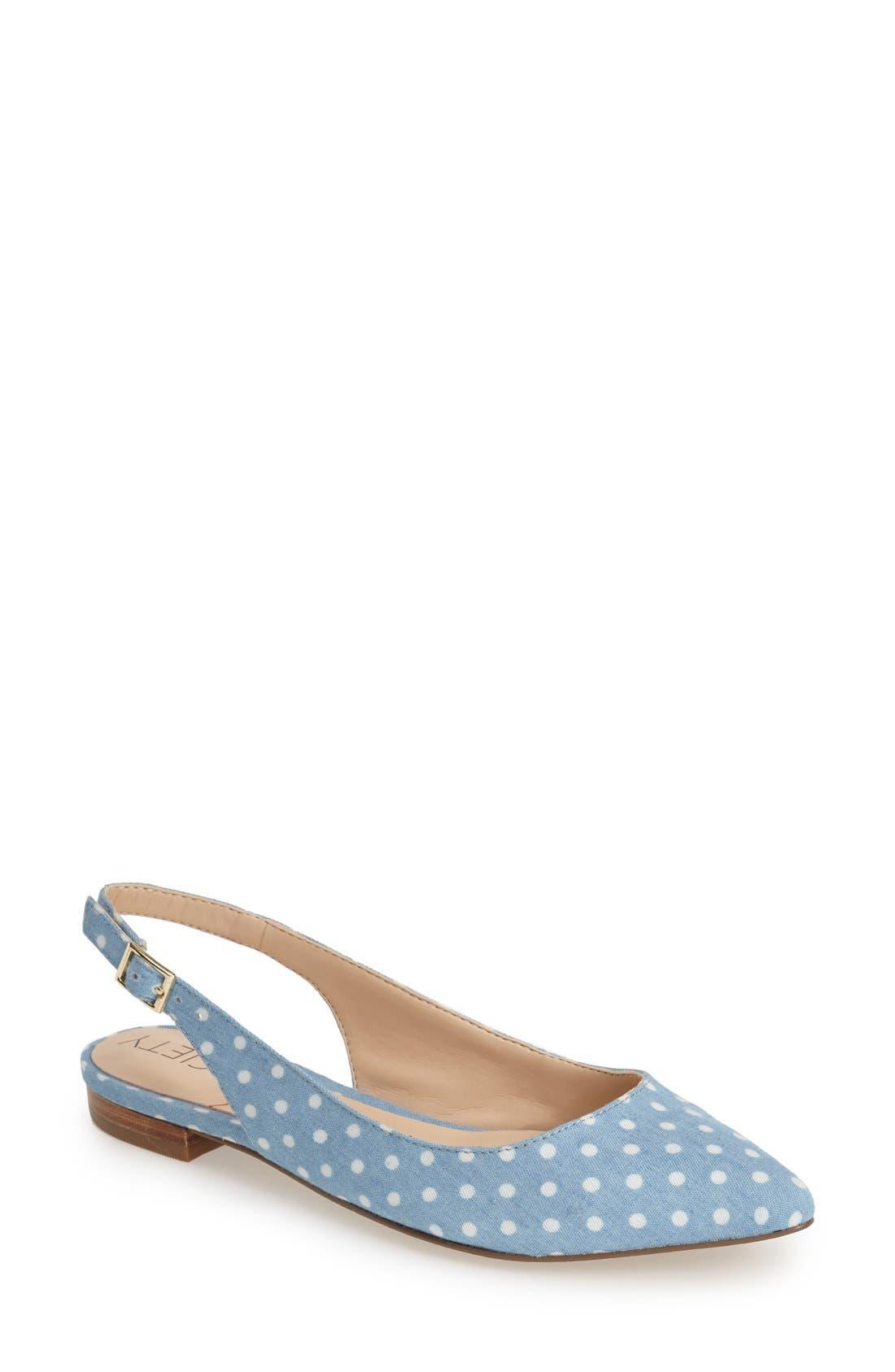 Main Image - Sole Society 'Molly' Pointy Toe Slingback Flat (Women)