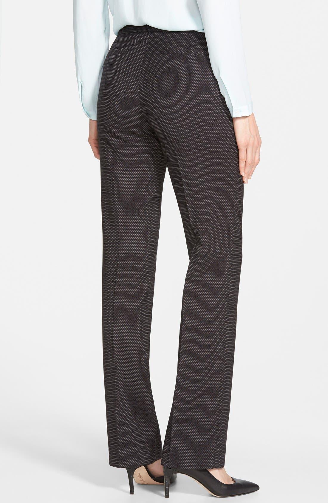 Alternate Image 2  - Halogen® 'Taylor' Darling Dot Suit Pants (Regular & Petite)