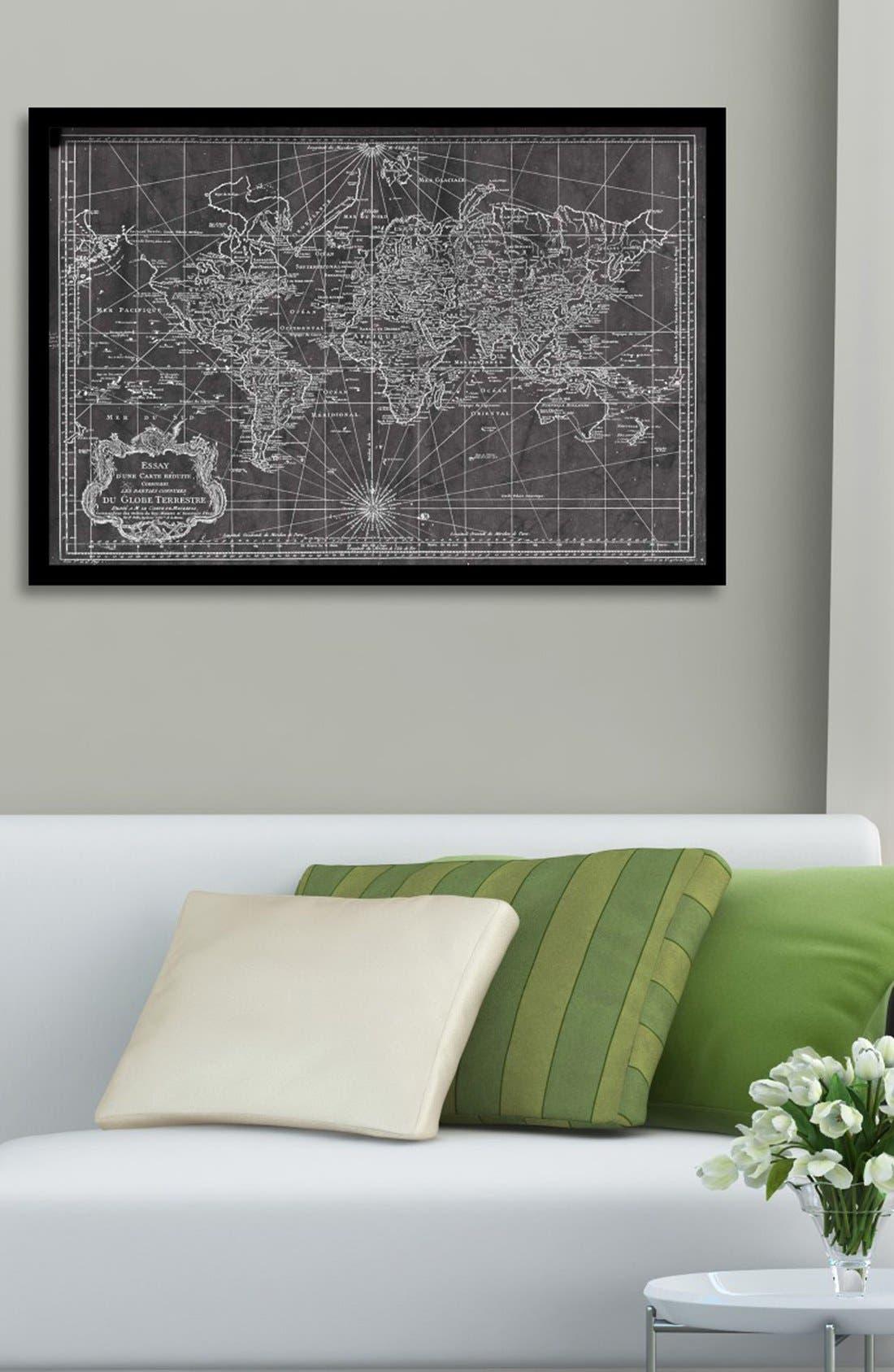 Alternate Image 2  - Oliver Gal 'World Map 1778' Framed Art Print
