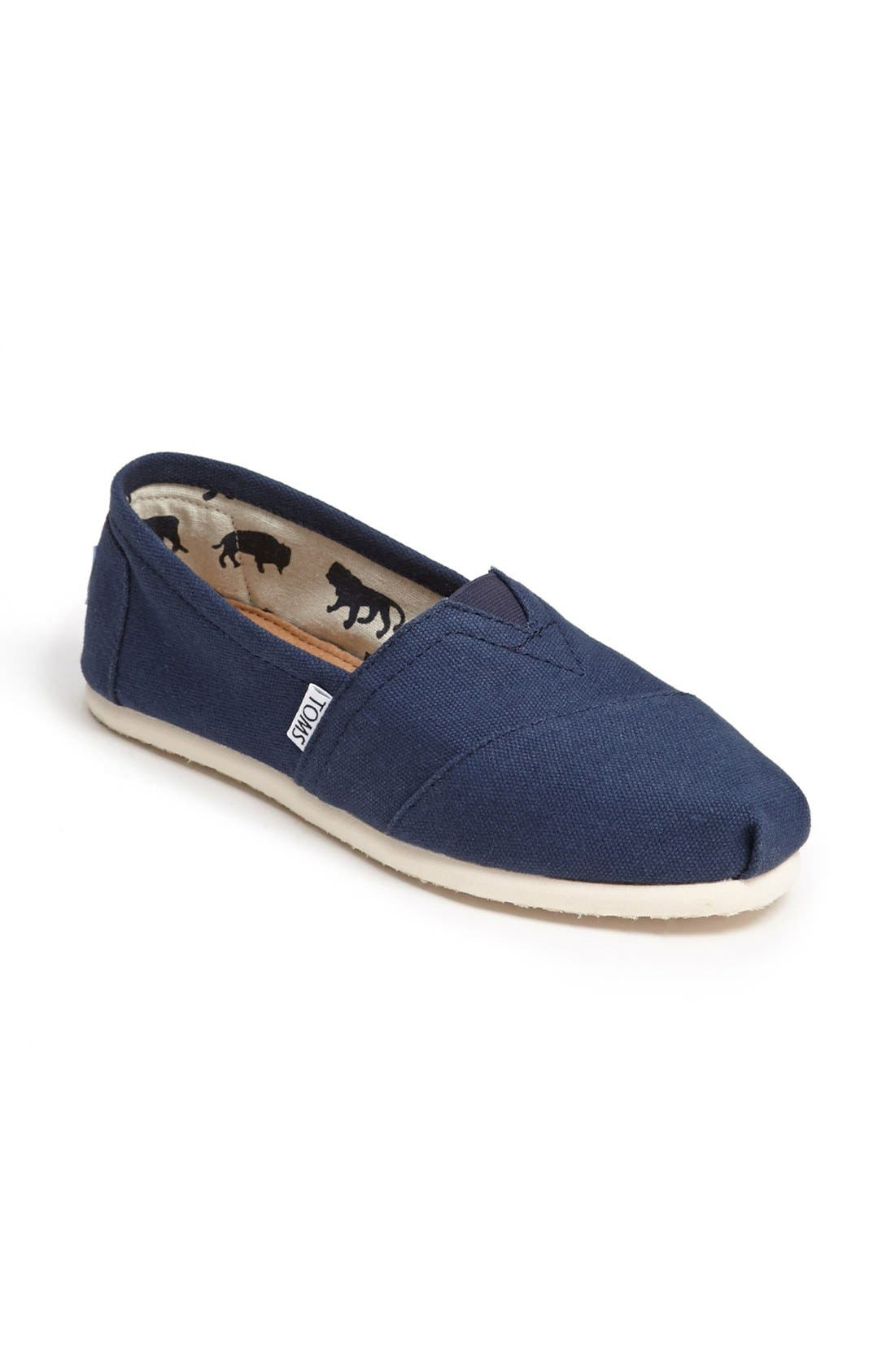 Alternate Image 5  - TOMS 'Classic' Canvas Slip-On (Women)