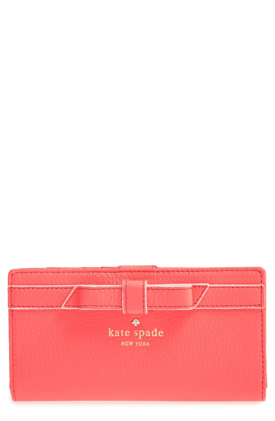 Main Image - kate spade new york 'cobble hill - bow stacy' wallet