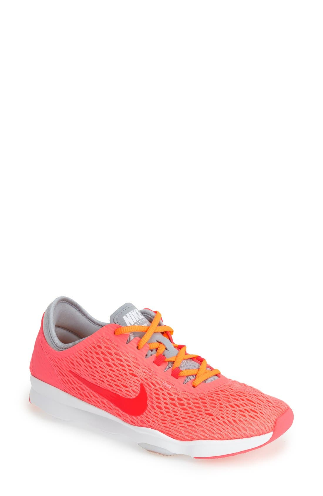 Alternate Image 1 Selected - Nike 'Zoom Fit' Mesh Training Shoe (Women)