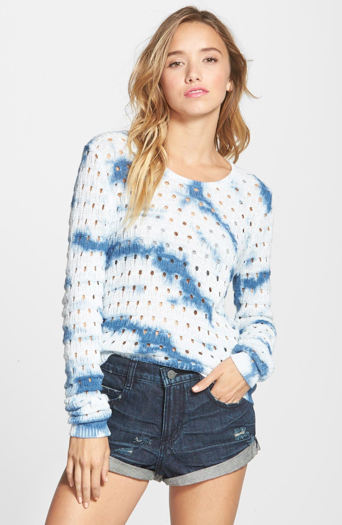 Alternate Image 1 Selected - RVCA 'Breezy' Open Knit Sweater