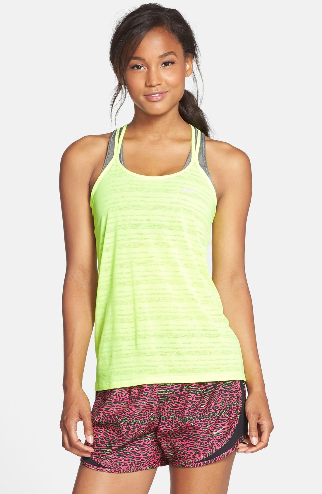 Alternate Image 1 Selected - Nike 'Cool Breeze' Dri-FIT Strappy Running Tank