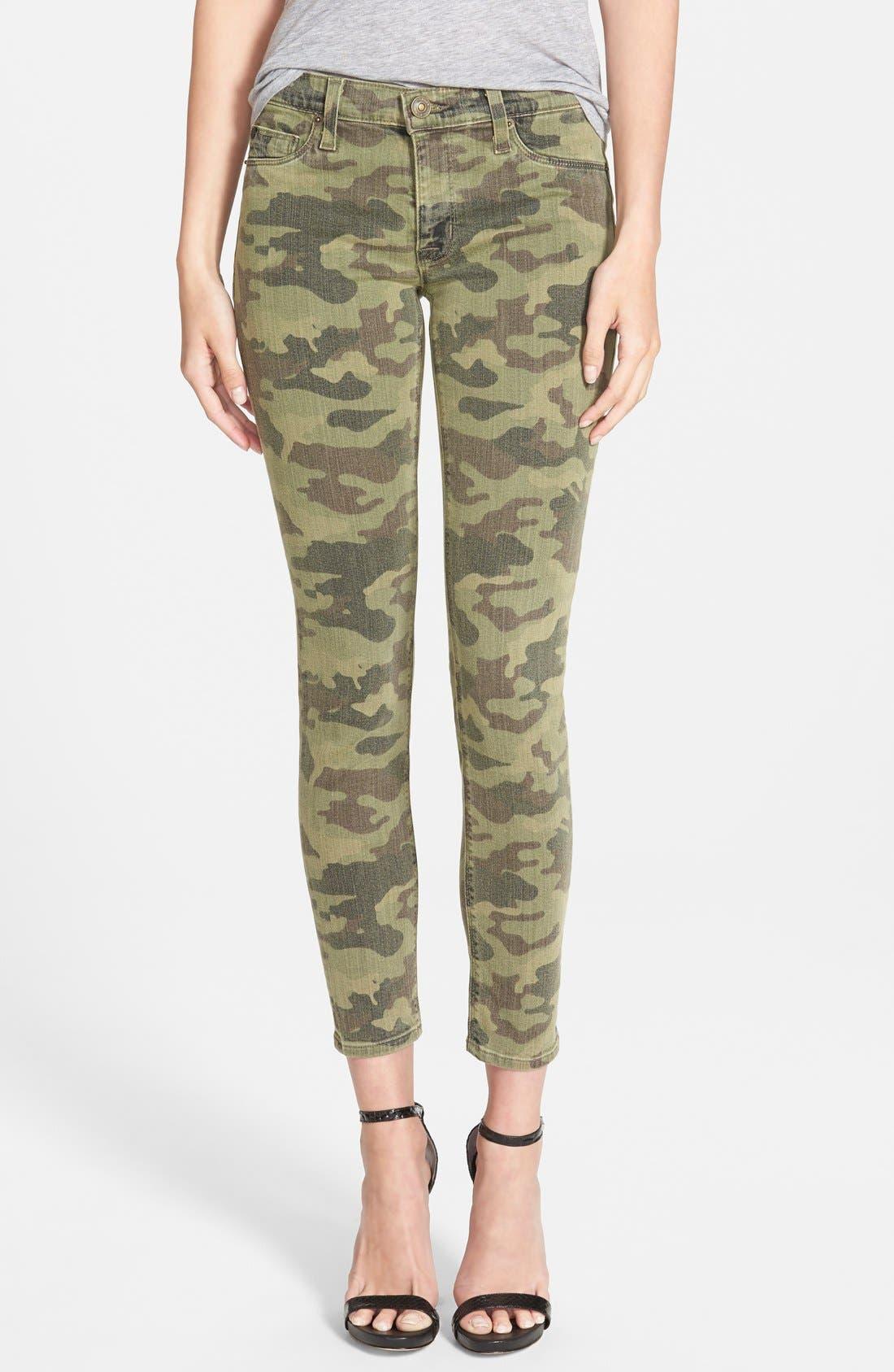 Main Image - Hudson Jeans 'Krista' Crop Jeans (Solimar Camo)