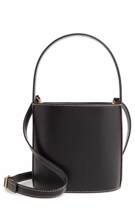 스타우드 비셋백 - 블랙 Staud Bissett Leather Bucket Bag
