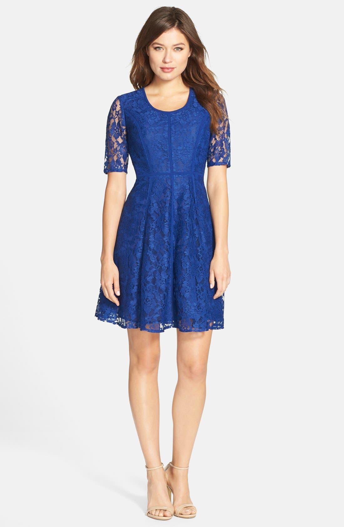 Alternate Image 3  - Gabby Skye Lace Fit & Flare Dress