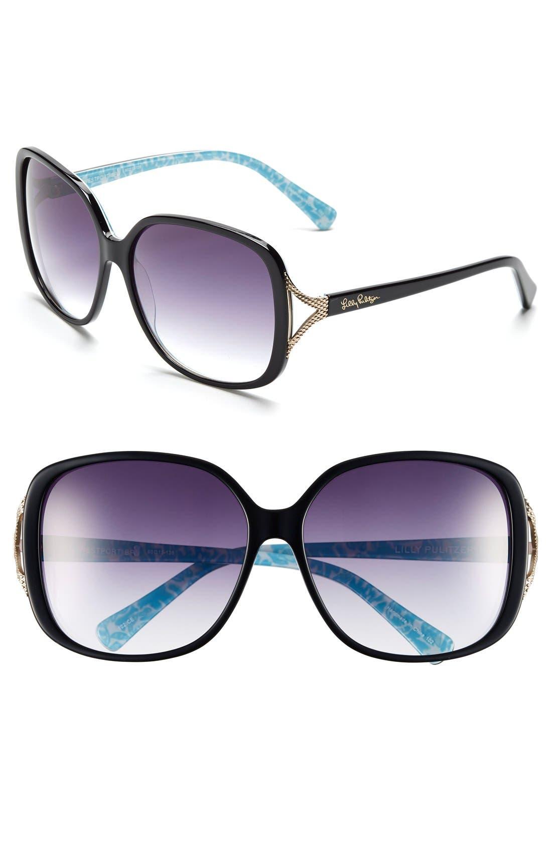 Main Image - Lilly Pulitzer® 'Westport' 60mm Sunglasses