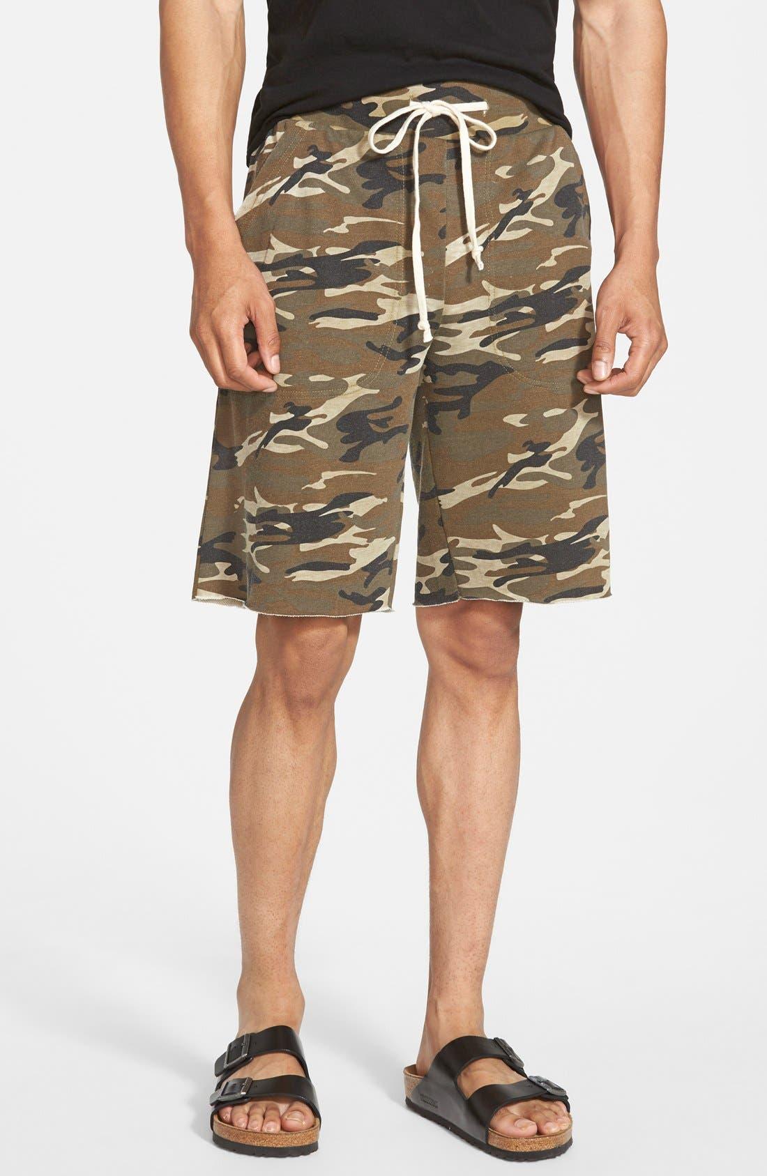 Alternative 'Victory' Camo French Terry Knit Cutoff Shorts