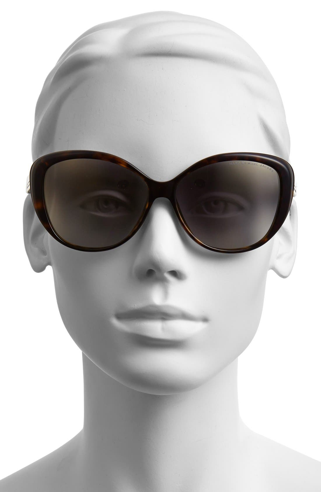 Alternate Image 2  - MARC BY MARC JACOBS 58mm Retro Sunglasses (Nordstrom Exclusive)