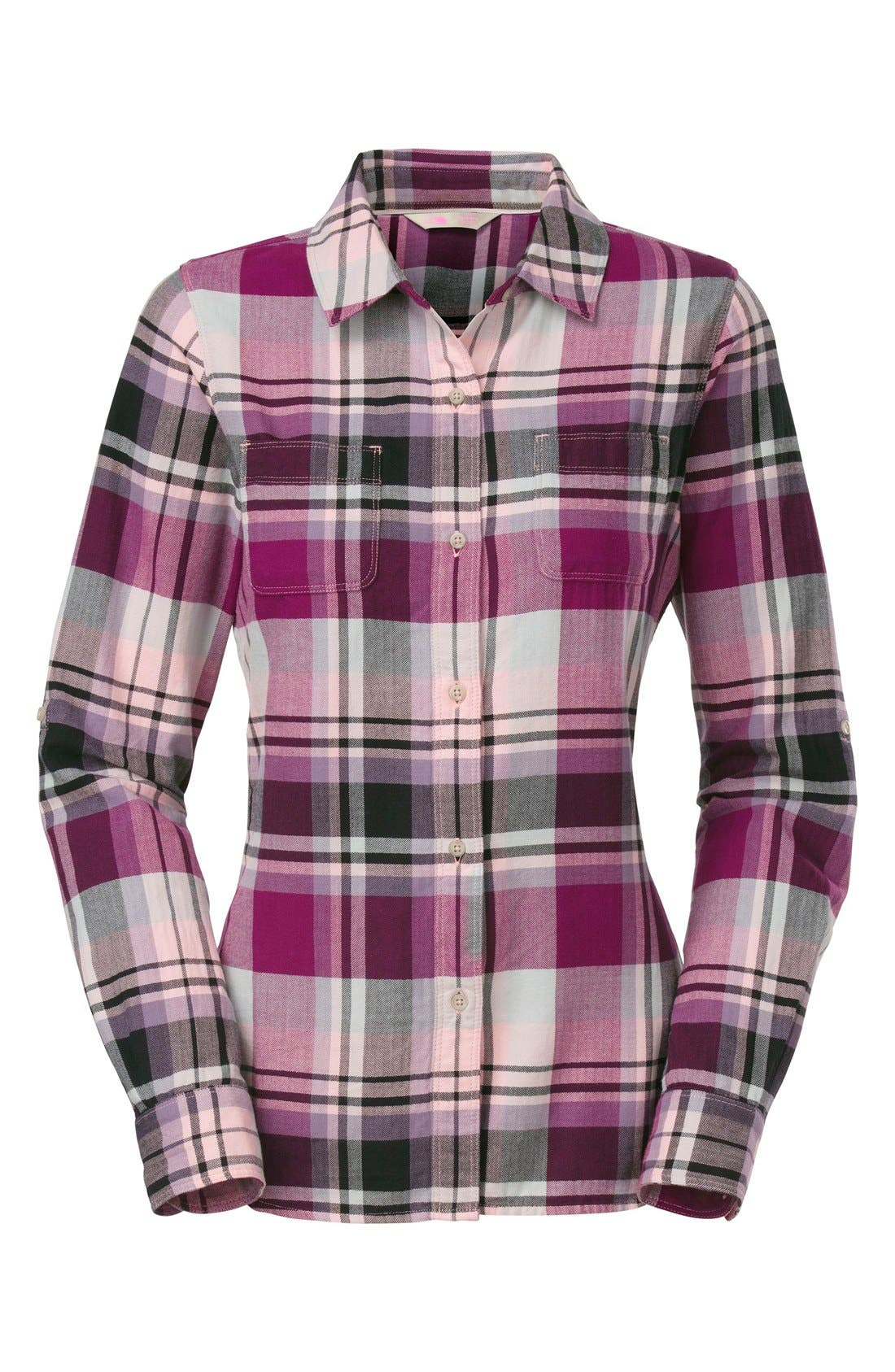 Alternate Image 1 Selected - The North Face 'Pomeria' Plaid Flannel Shirt
