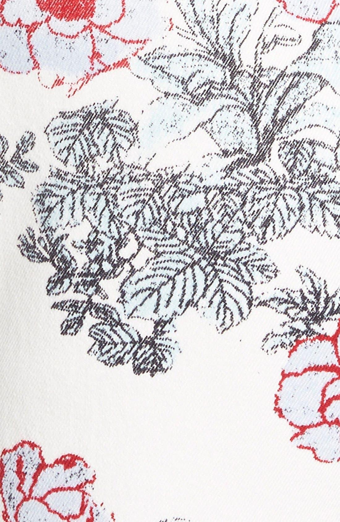 Alternate Image 3  - Standards & Practices Floral Print Skinny Jeans (White)