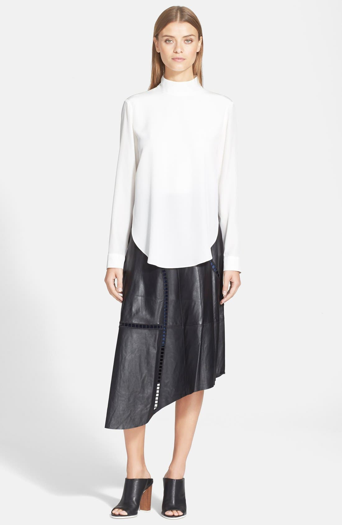 Alternate Image 2  - Tibi Double Layer Mock Neck Silk Top