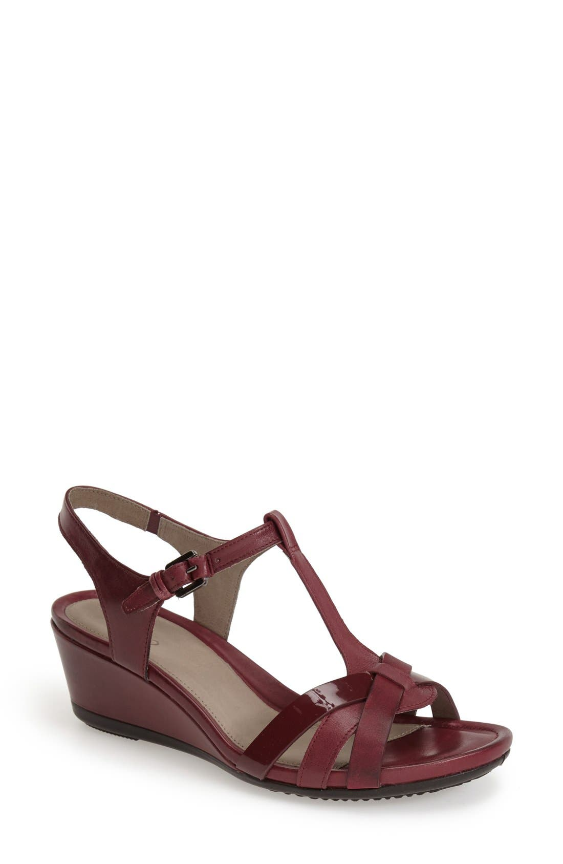 Alternate Image 1 Selected - ECCO 'Touch 45' T-Strap Wedge Sandal (Women)