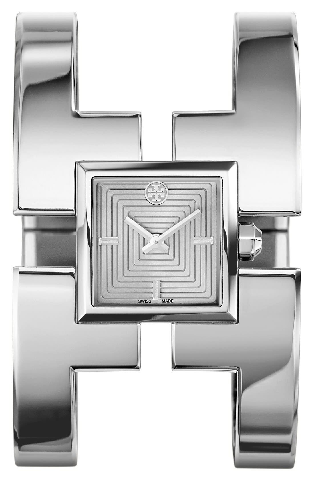 Alternate Image 1 Selected - Tory Burch 'Sawyer' Square Bangle Watch, 20mm