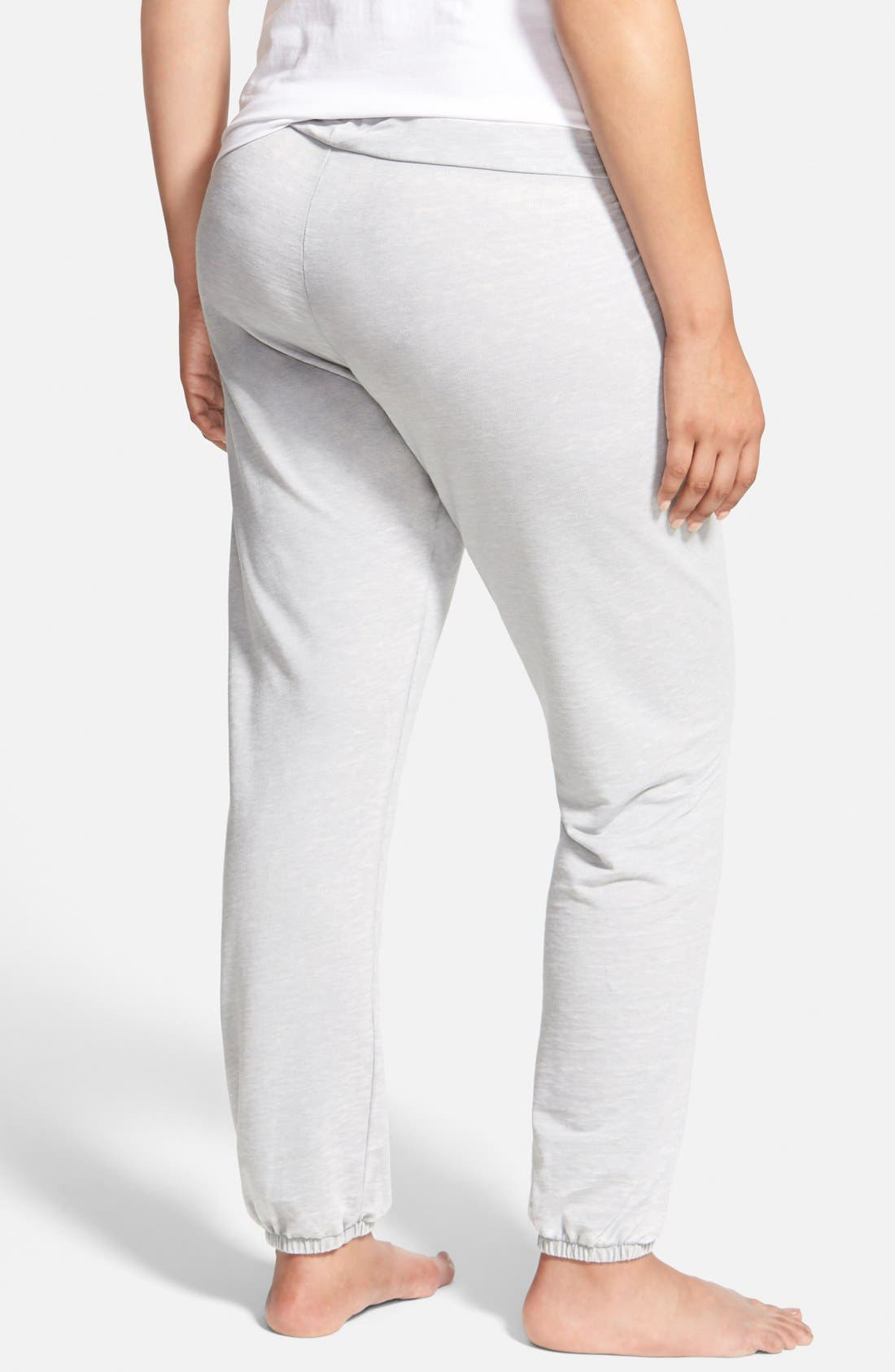 Alternate Image 2  - Honeydew Intimates Burnout French Terry Joggers (Plus Size) (Online Only)