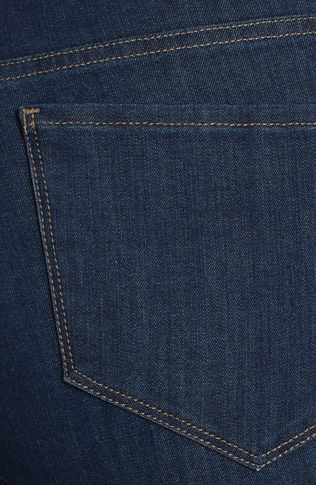 Alternate Image 3  - NYDJ 'Samantha' Stretch Slim Straight Leg Jeans (Everett) (Plus Size)