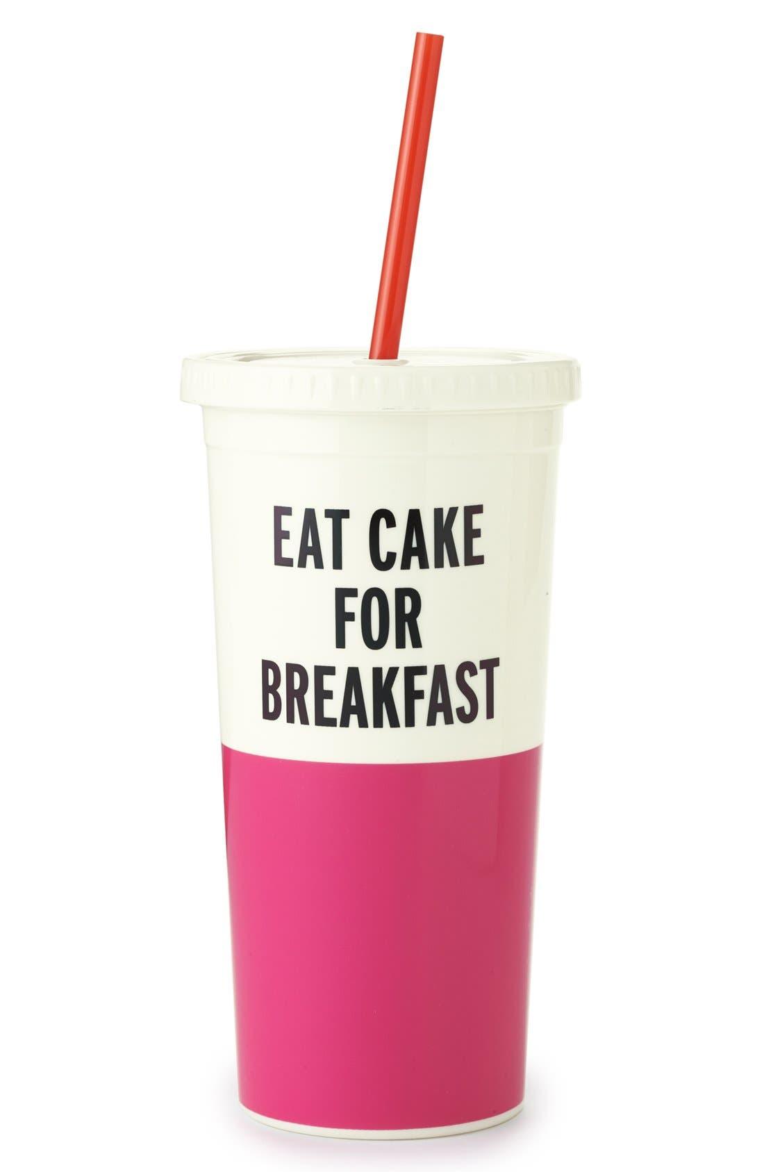Main Image - kate spade new york 'eat cake for breakfast' insulated tumbler