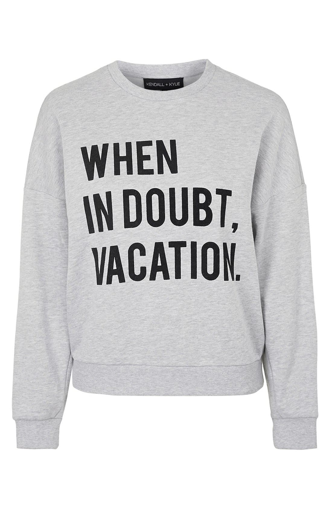 Alternate Image 4  - KENDALL + KYLIE at Topshop 'When in Doubt, Vacation' Crewneck Pullover