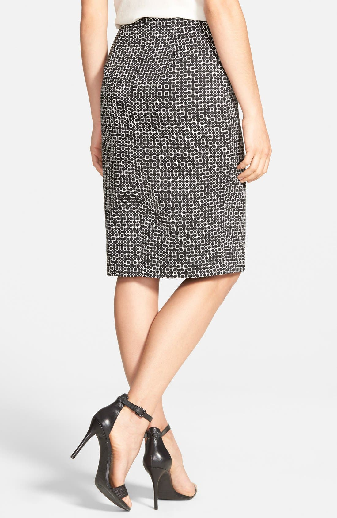 Alternate Image 2  - Halogen® Print Pencil Skirt (Regular & Petite)