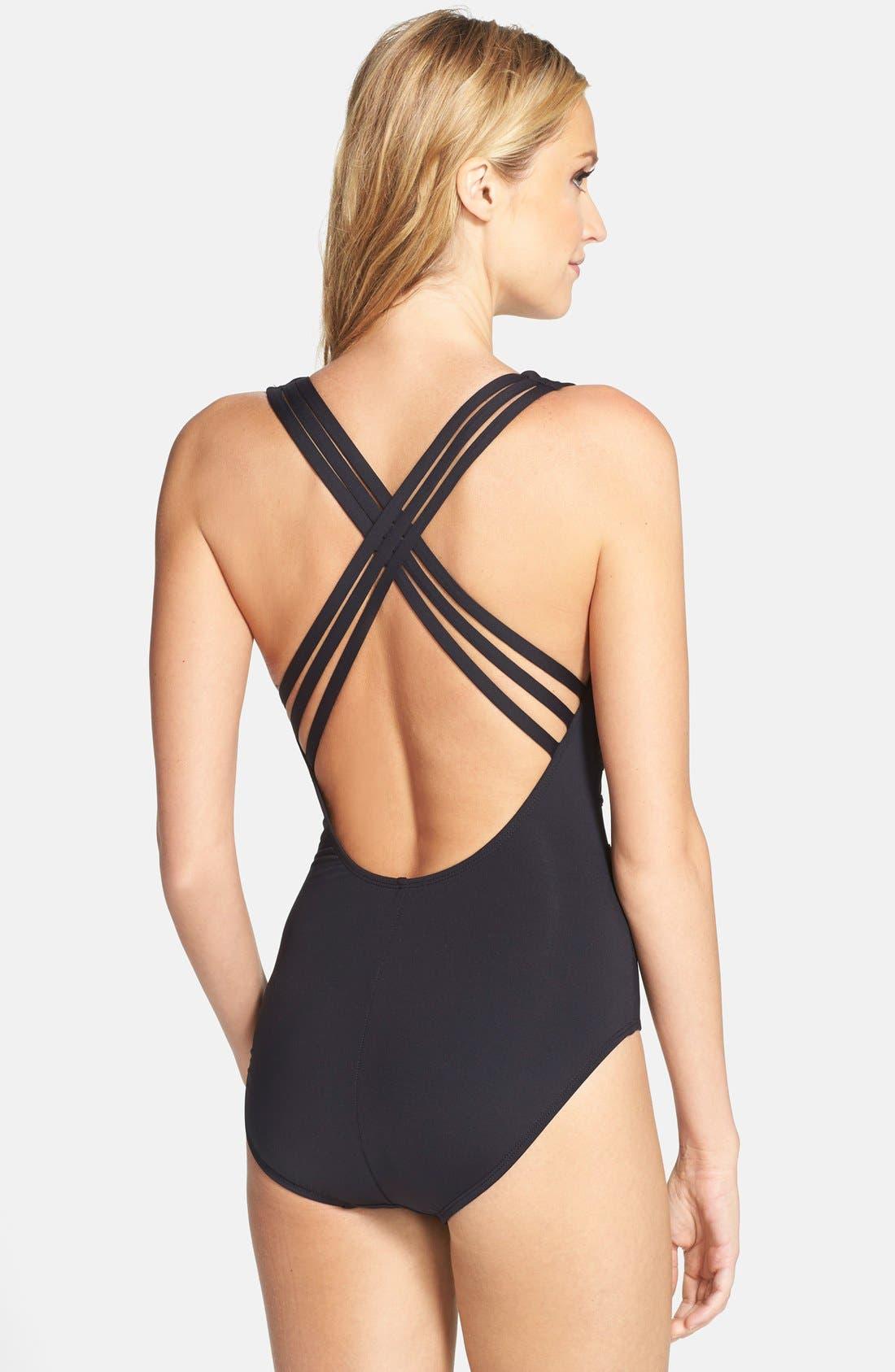 Alternate Image 2  - La Blanca 'Core' Strappy Cross Back One-Piece Swimsuit