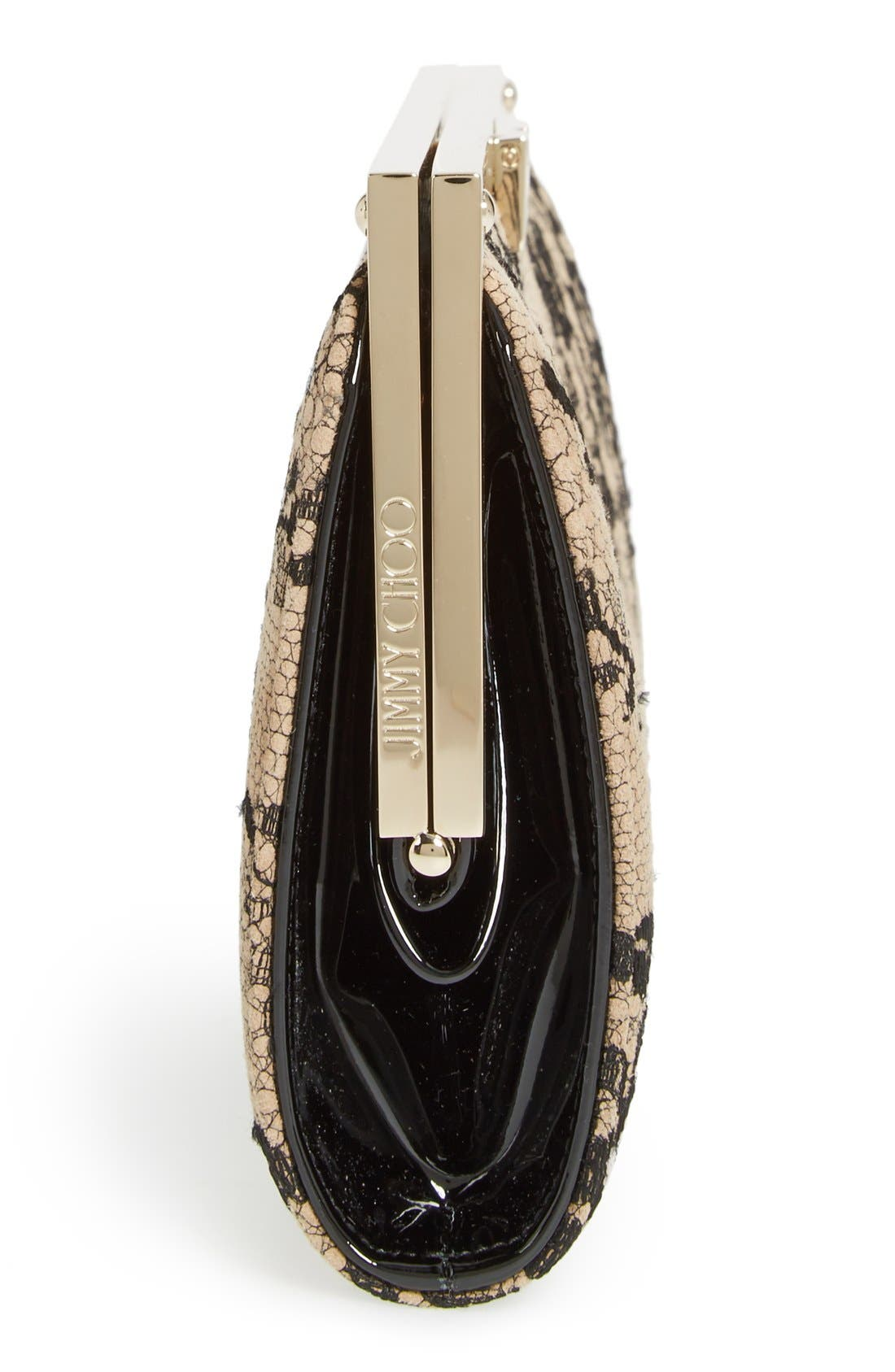 Alternate Image 5  - Jimmy Choo 'Camille' Lace & Leather Clutch