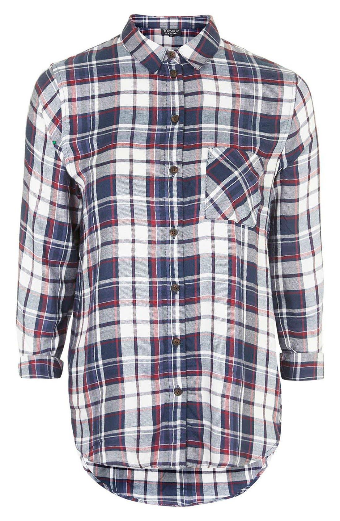 Alternate Image 3  - Topshop 'Ali' Check Button Front Shirt