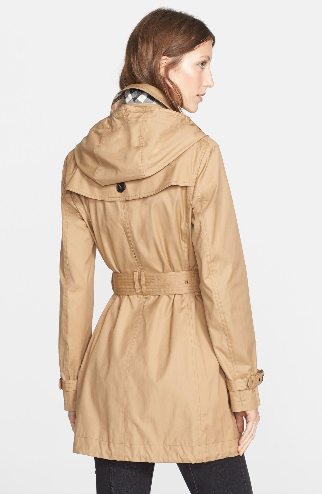 Alternate Image 2  - Burberry Brit 'Fenstone' Single Breasted Trench Coat