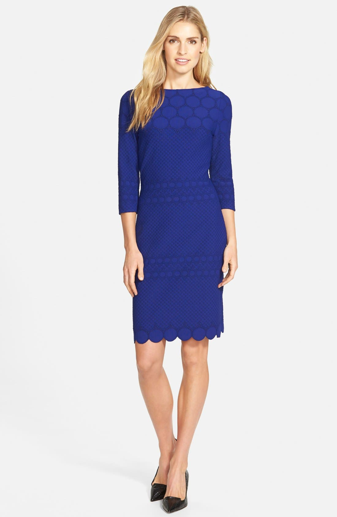 Alternate Image 3  - Julia Jordan Eyelet Sheath Dress (Online Only)
