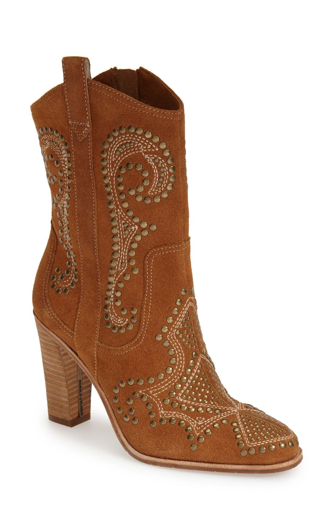 Alternate Image 1 Selected - Donald J Pliner 'Olivia' Western Boot (Women)