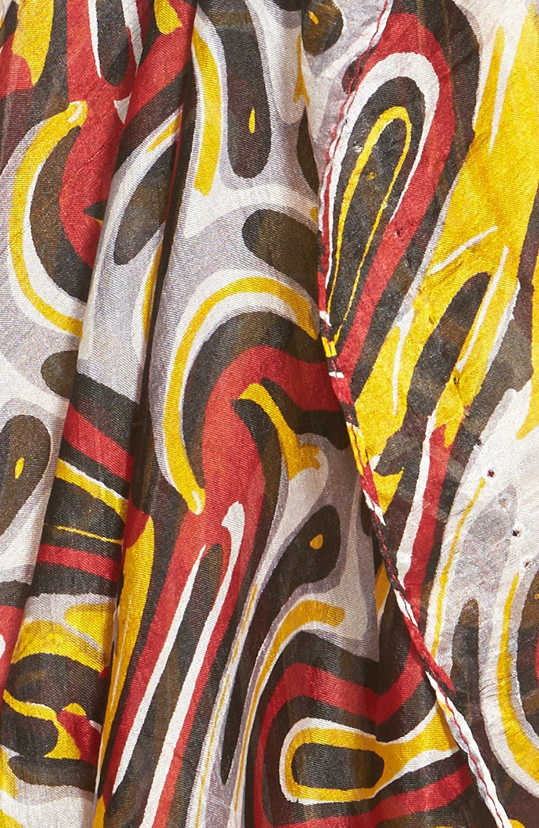 Alternate Image 3  - La Fiorentina Swirl Pattern Silk Scarf