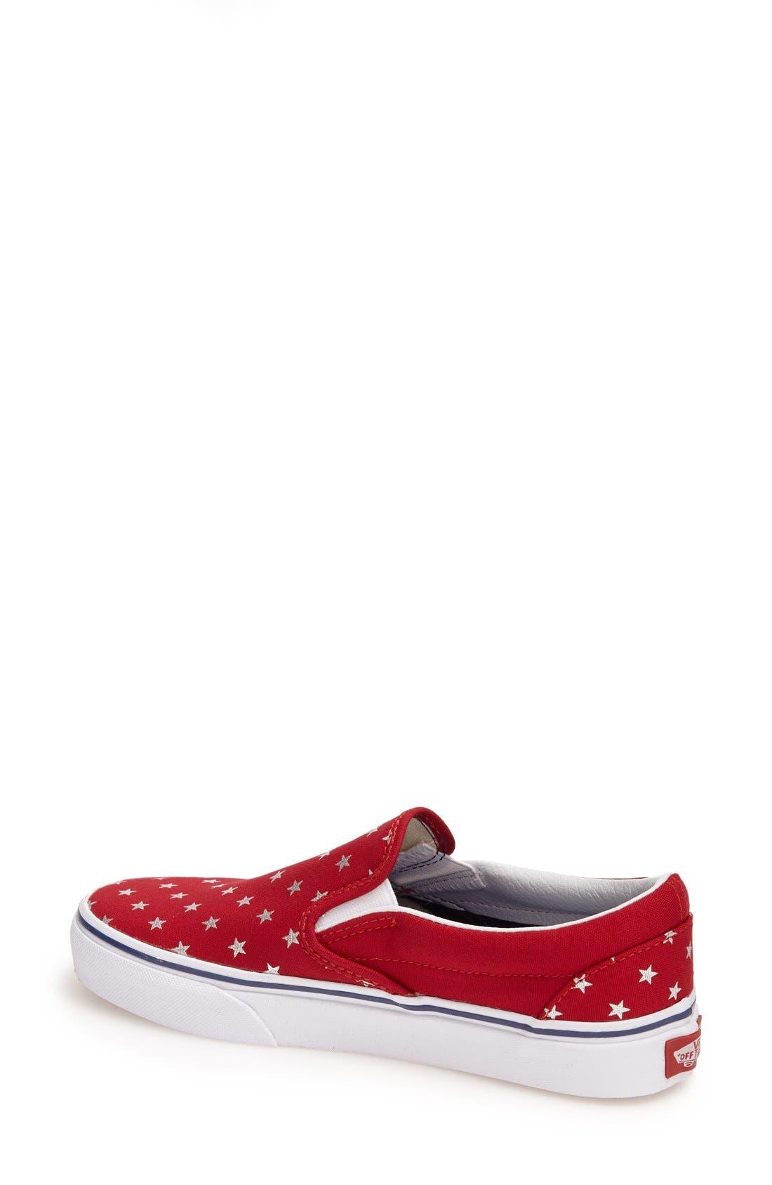 Alternate Image 2  - Vans 'Classic - Stars' Slip-On Sneaker (Women)