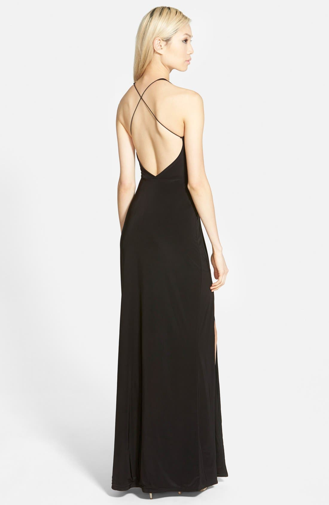 Alternate Image 2  - Missguided 'Nora' High Neck Maxi Dress