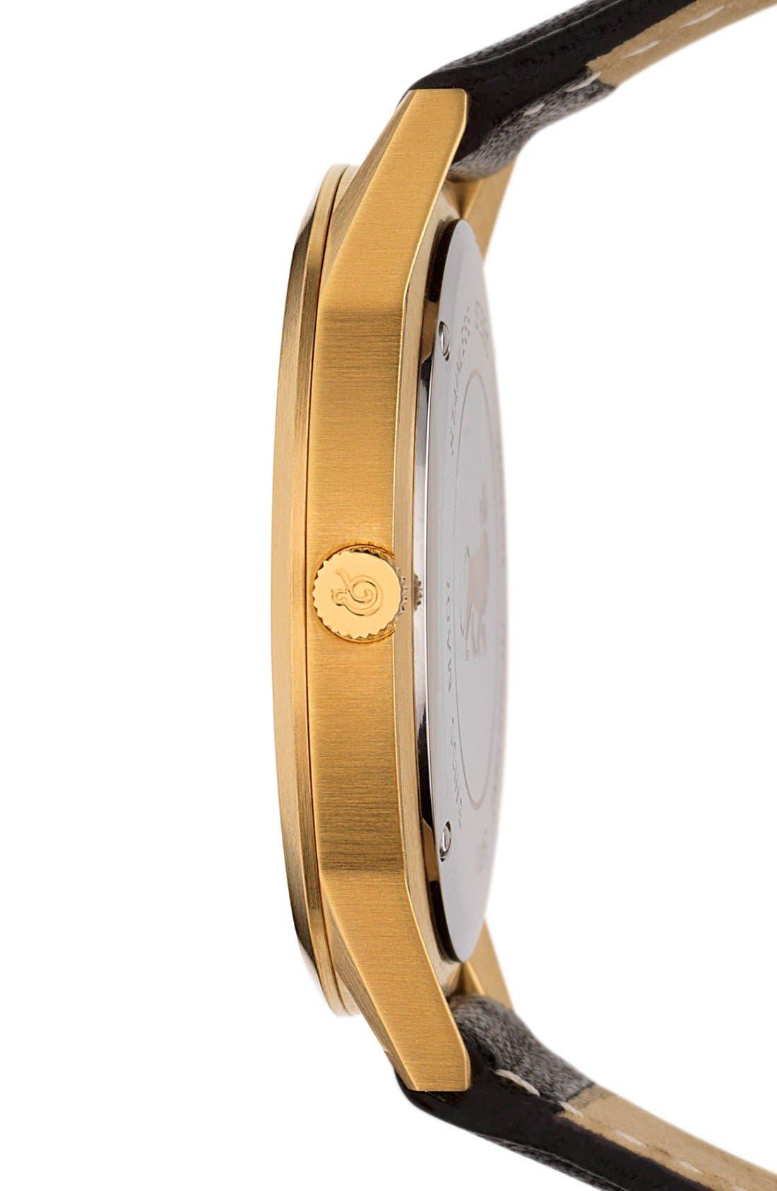 Alternate Image 3  - Larsson & Jennings 'Saxon' Leather Strap Watch, 39mm