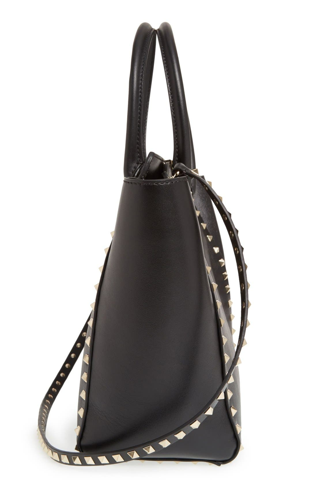 Alternate Image 5  - Valentino 'Rockstud' Leather Double Handle Tote