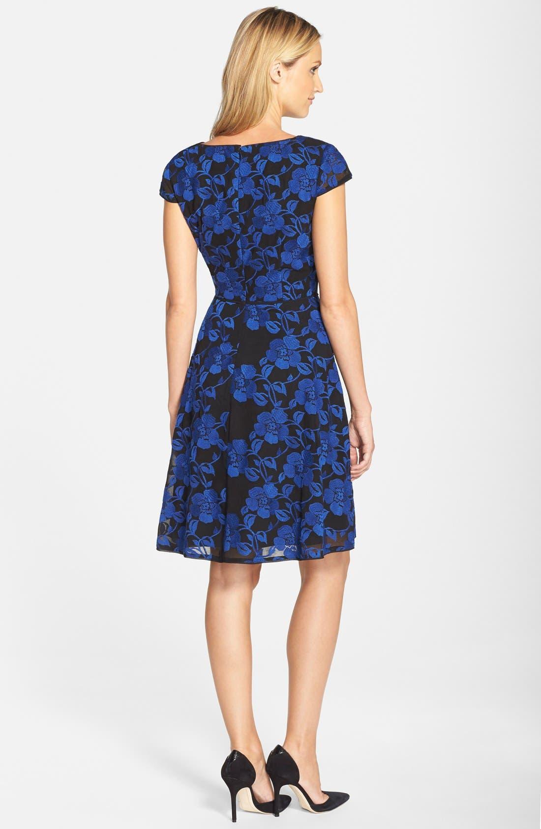 Alternate Image 2  - Adrianna Papell Print Chiffon Fit & Flare Dress