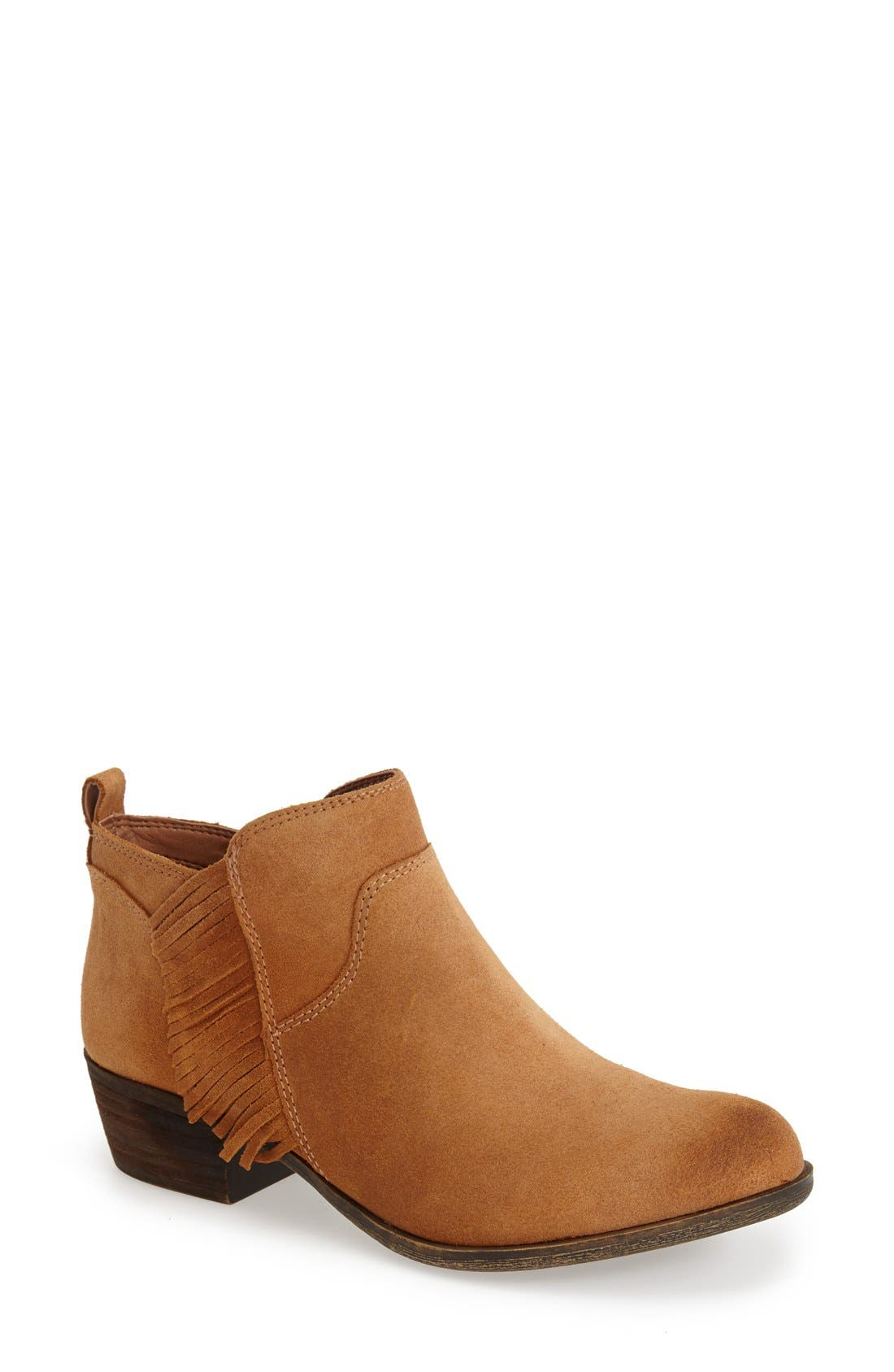 Alternate Image 1 Selected - Lucky Brand 'Banji' Fringe Bootie (Women)