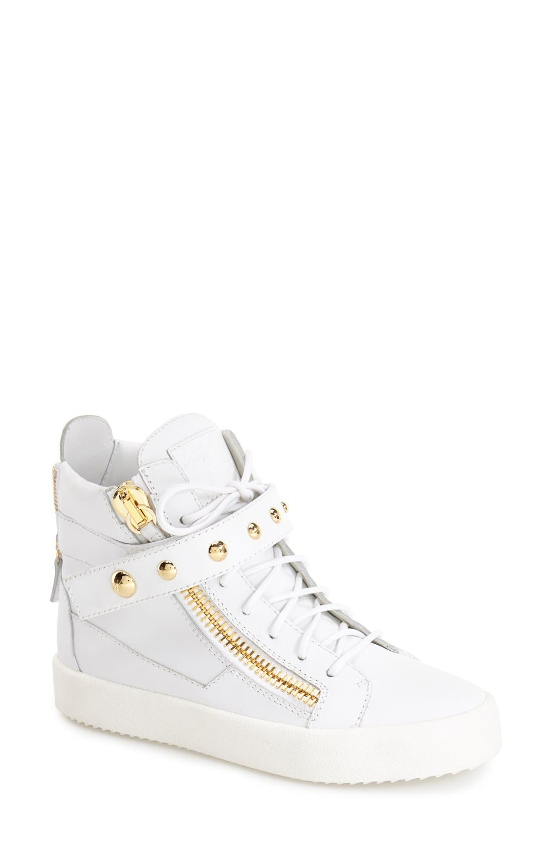 Alternate Image 1 Selected - Giuseppe Zanotti 'May London' High Top Sneaker (Women)