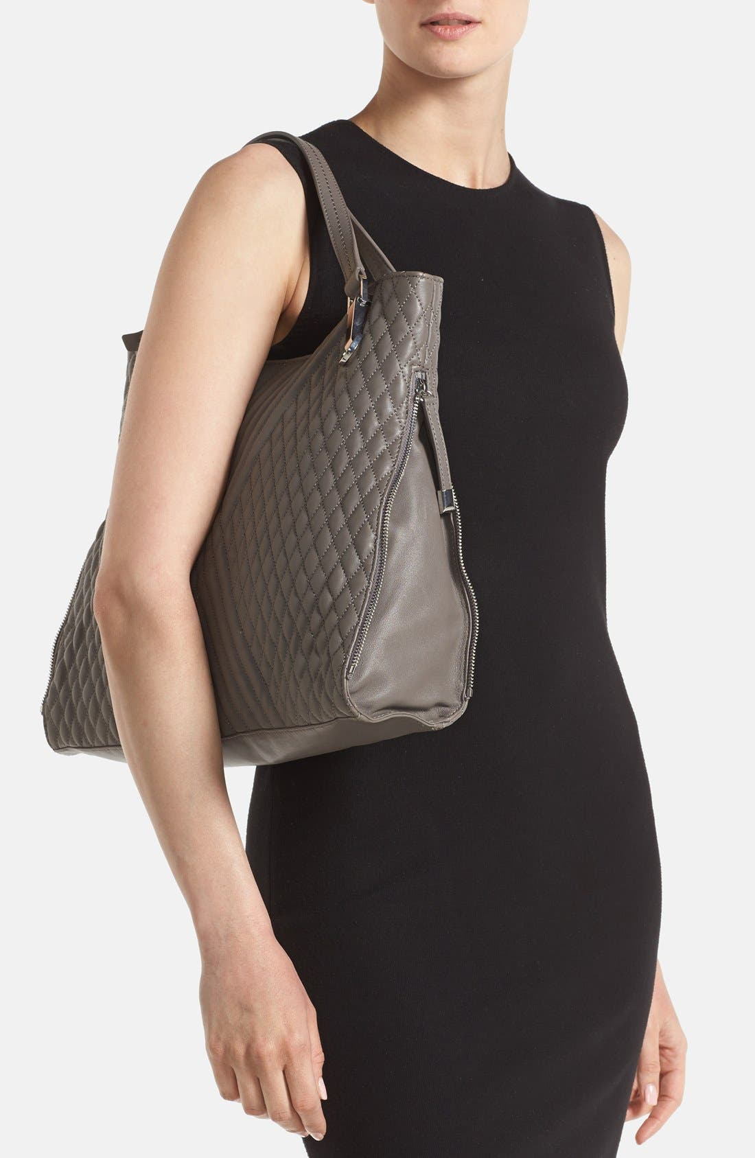 Alternate Image 2  - Vince Camuto 'Riley' Quilted Leather Tote