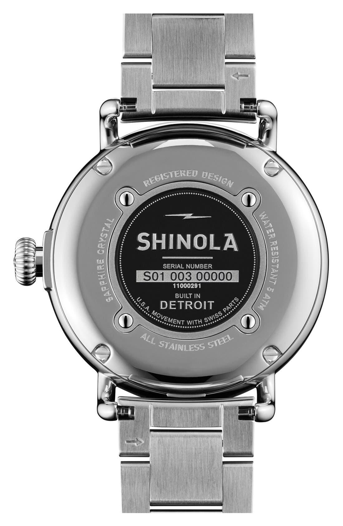 Alternate Image 2  - Shinola 'The Runwell' Leather Bracelet Watch, 38mm