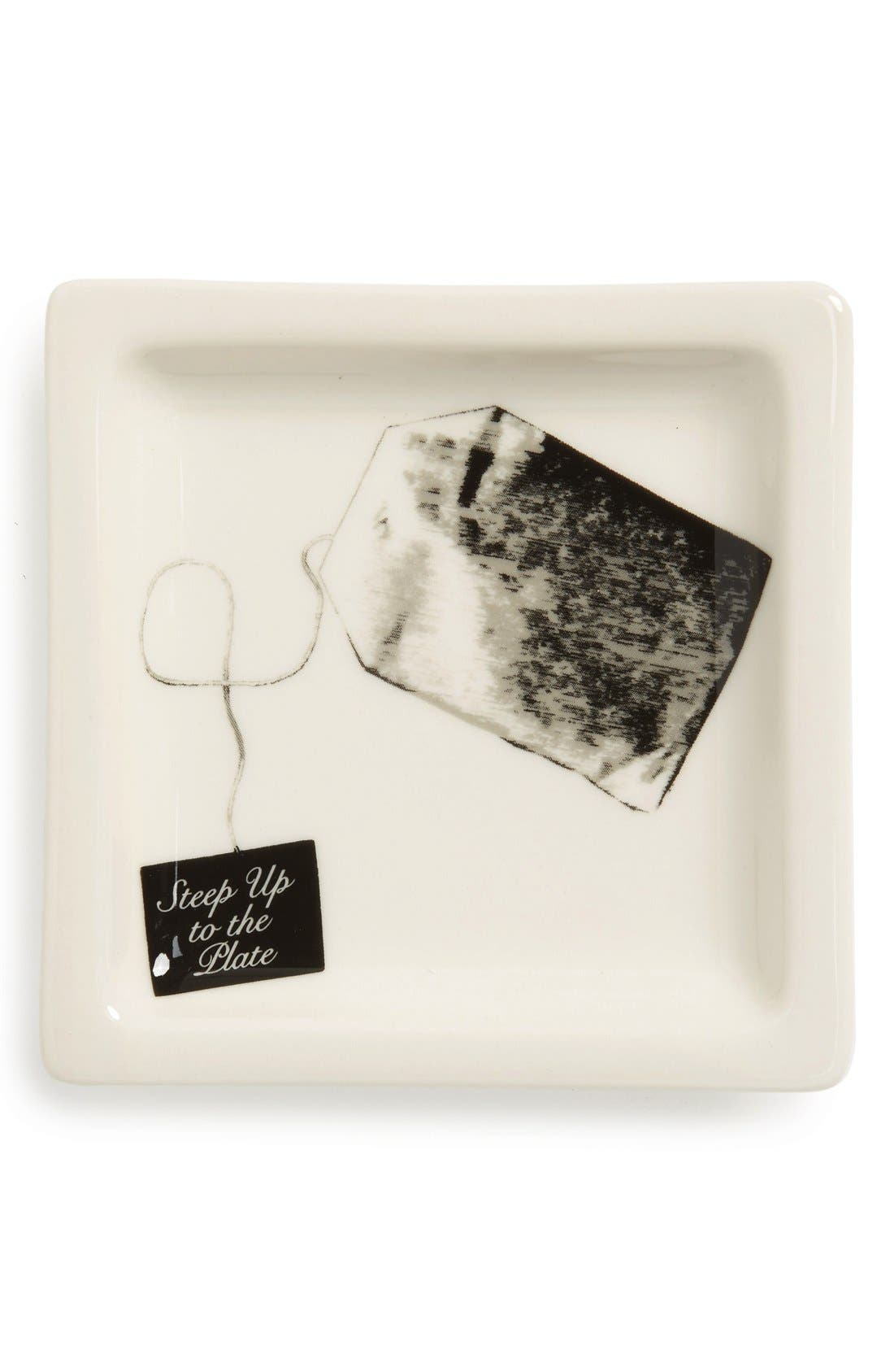 Main Image - Fishs Eddy 'Steep Up To The Plate' Ceramic Tray