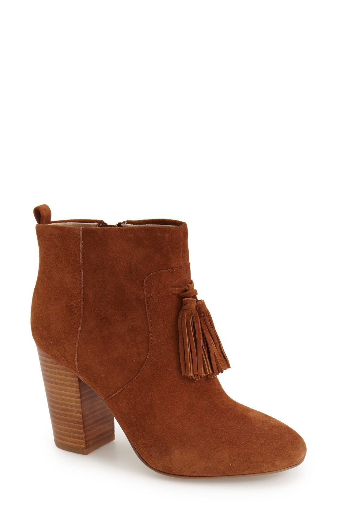 Alternate Image 1 Selected - French Connection 'Linds' Tassel Ankle Bootie (Women)