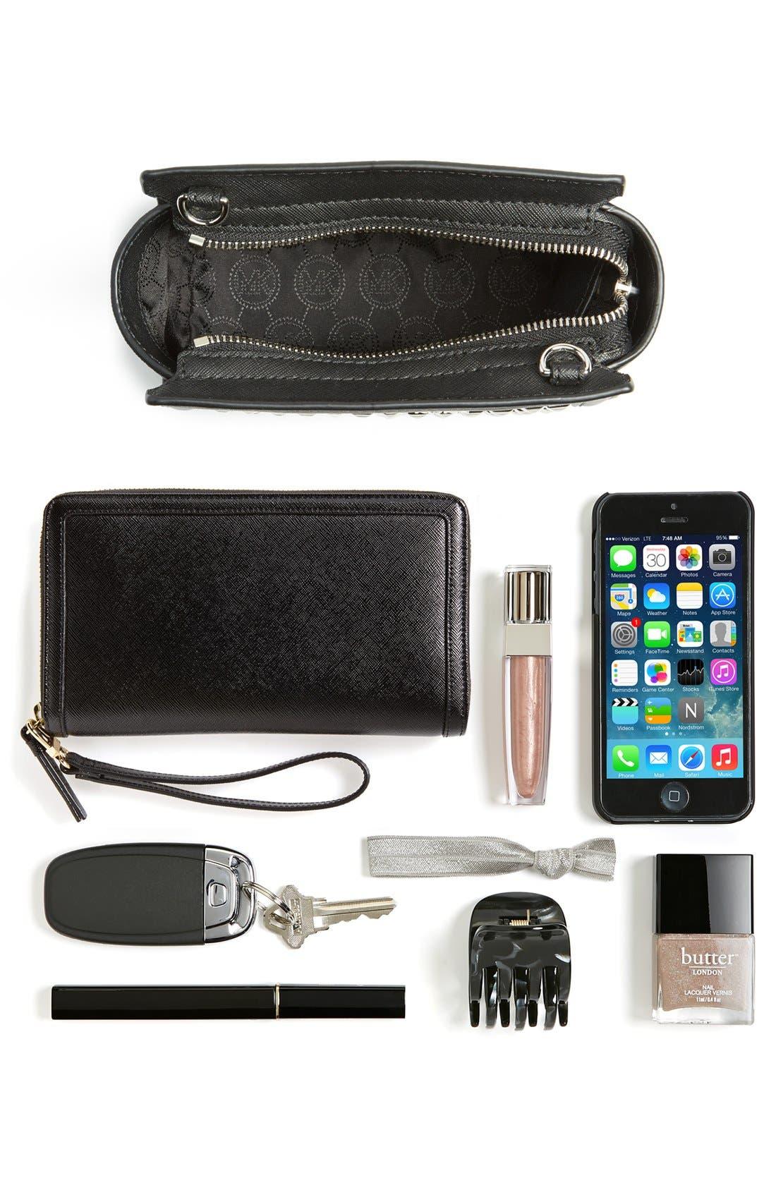 Alternate Image 7  - MICHAEL Michael Kors 'Mini Selma' Studded Saffiano Leather Crossbody Bag