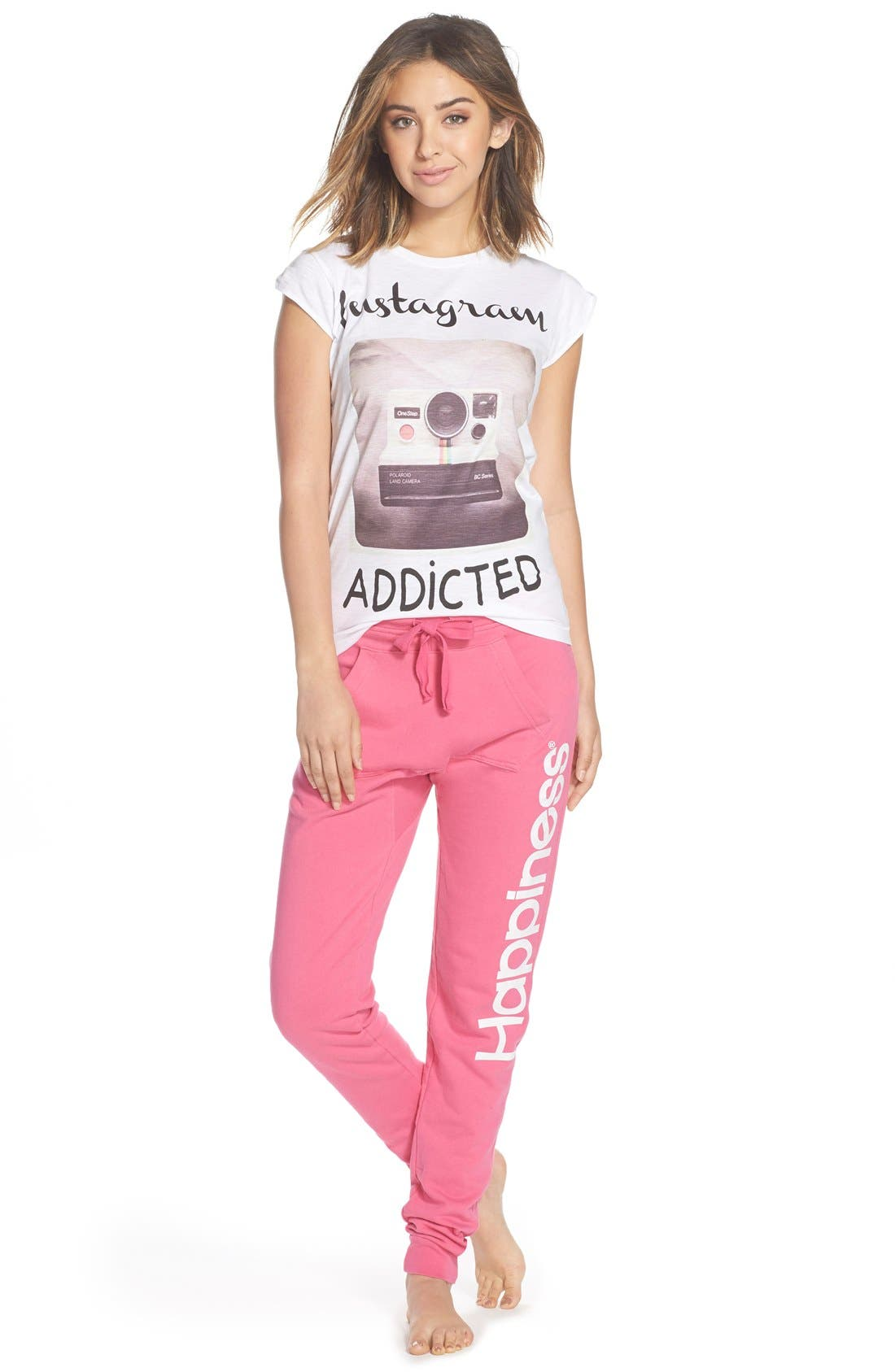 Alternate Image 3  - Happiness® 'Instagram Addicted' Graphic Tee