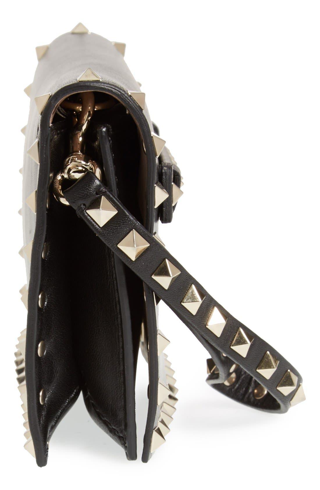 Alternate Image 5  - Valentino 'Small Rockstud' Leather Flap Clutch