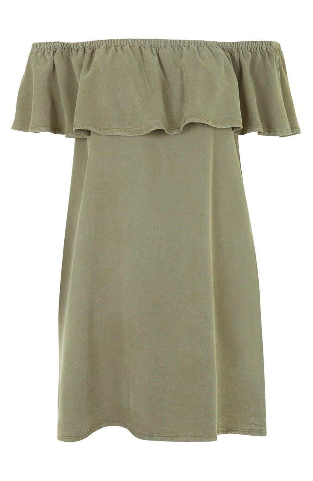 Alternate Image 3  - Topshop Ruffled Off the Shoulder Dress
