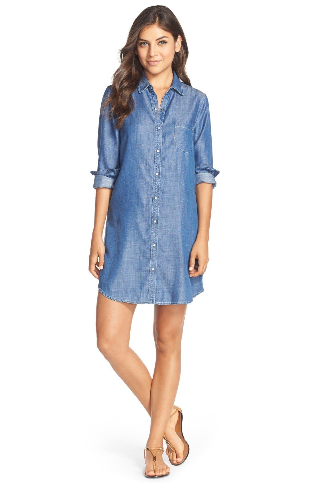 Alternate Image 3  - Tart 'Jenine' Chambray Shirtdress