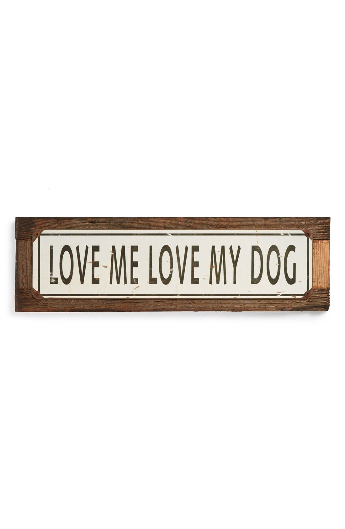 Main Image - Poncho & Goldstein 'Love Me Love My Dog' Sign