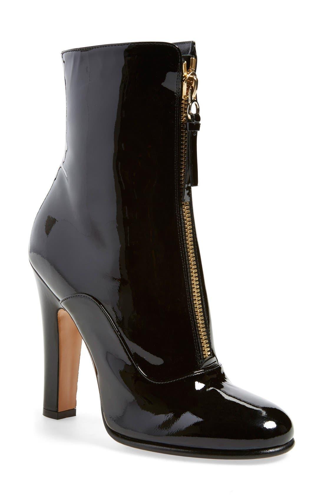 Main Image - Valentino 'Rebelle' Round Toe Zip Bootie (Women)
