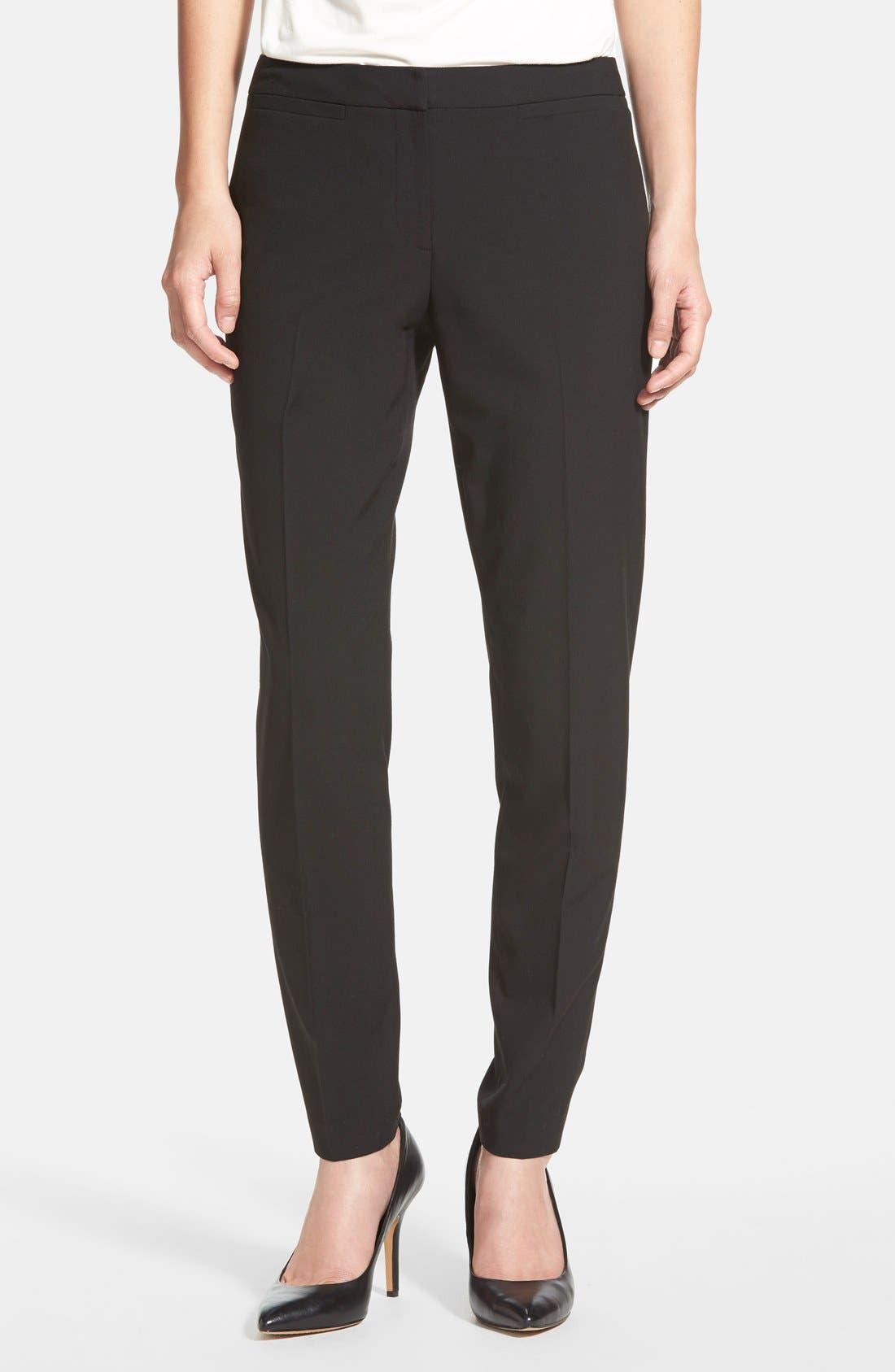 Alternate Image 1 Selected - Halogen® 'Taylor' Ankle Skinny Pants (Regular & Petite)
